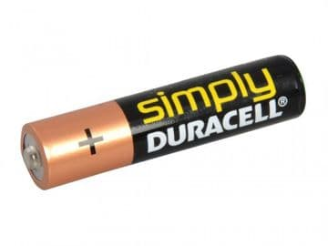 AAA Simply Duracell Alkaline MN2400 Batteries (Pack 4)